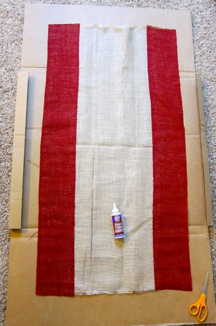 step1 DIY Burlap Table Runner   By Morena of Morenas Corner