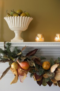Xmassy Mantle 99244787 199x300 Embracing Fall Decor When Youre Stuck In Summer