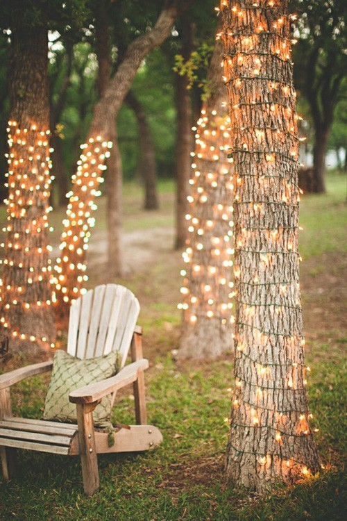white lights How To Host The Most Relaxing Memorial Day Party