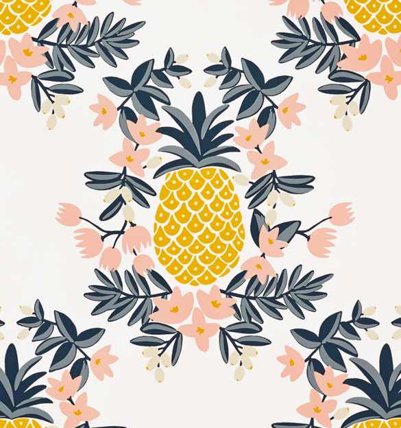 Vintage Pineapple Wallpaper images