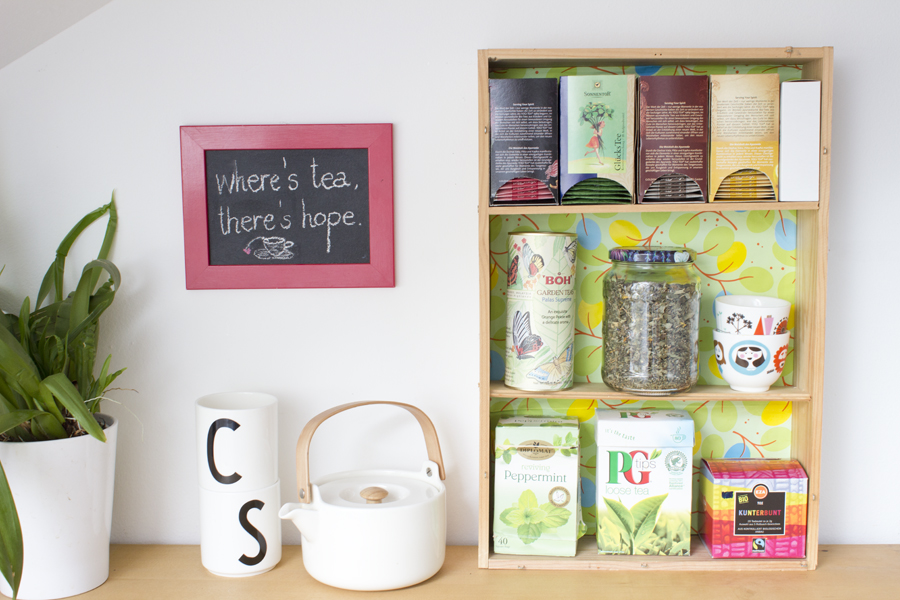 wine box to tea shelf diy Using Your Summer Months To Effectively Organize