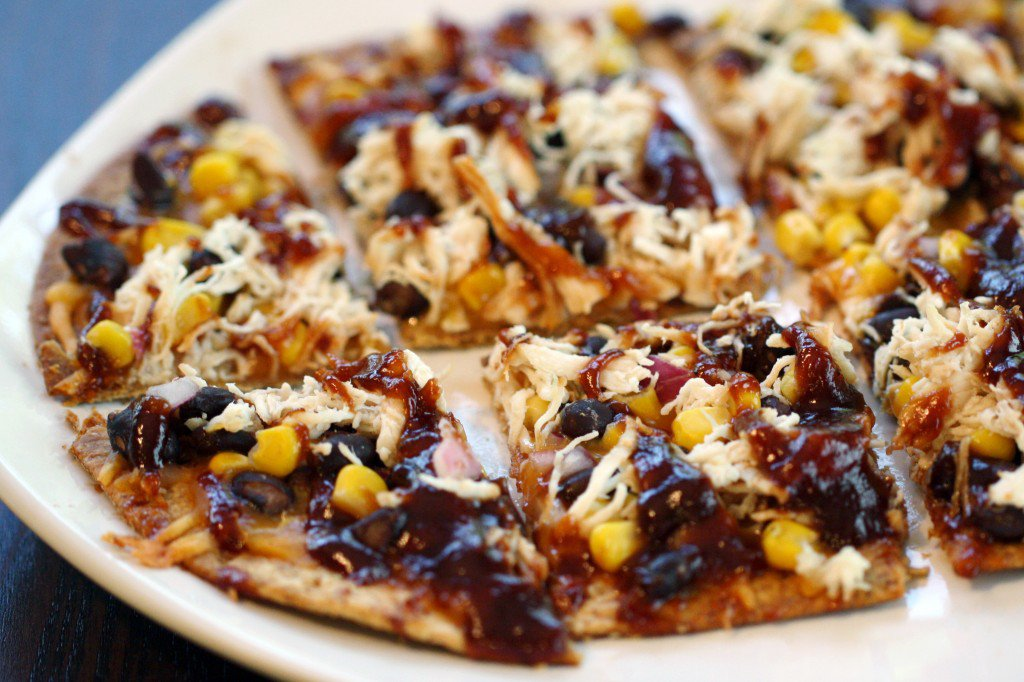 SkinnyBBQChickenFlatbread Quick & Easy Tailgate Food to Please a Crowd