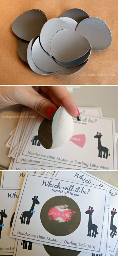 gender reveal scratch off Gender Reveal Party Ideas