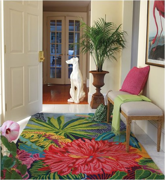 tropical floral rug Bringing the Outside In: Nature Inspired Home Decor