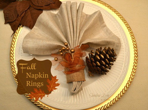 FallNapkinRings8 SondraLynatHome e1384296191811 12 DIY Decoration Ideas for the Thanksgiving Table