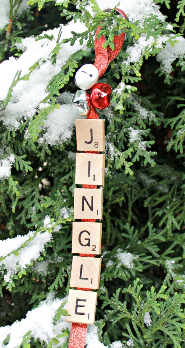 Jingle Bells Christmas Ornament Scrabble Pieces 12 Fast and Easy Homemade Christmas Ornaments