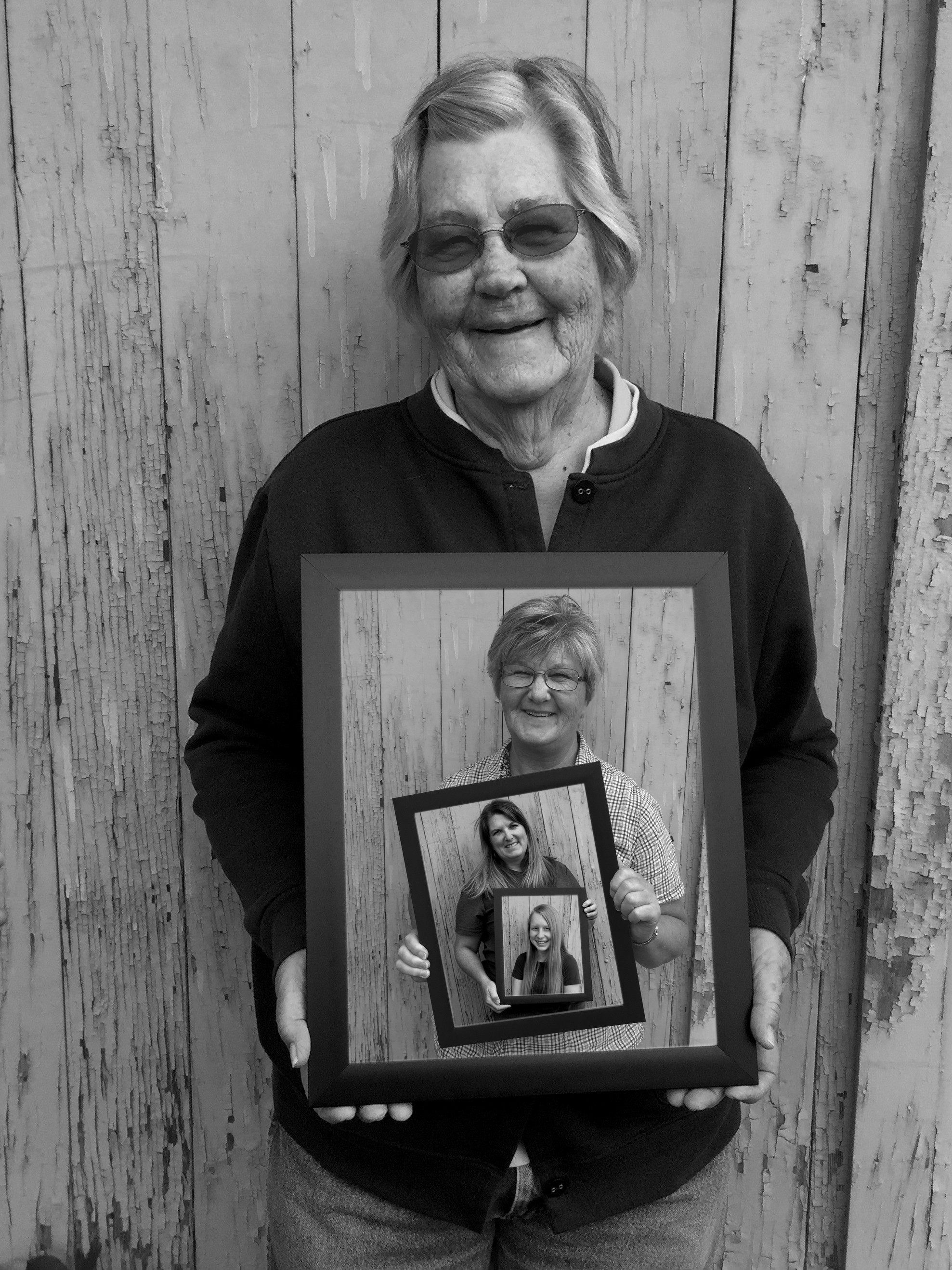 WomenHoldingPhotos Customer Art Spotlight: Four Generations Family Portrait