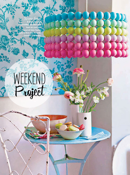 Ping pong ball pendant 12 Fabulously Fresh DIY Ideas for Your Spring Home Decor