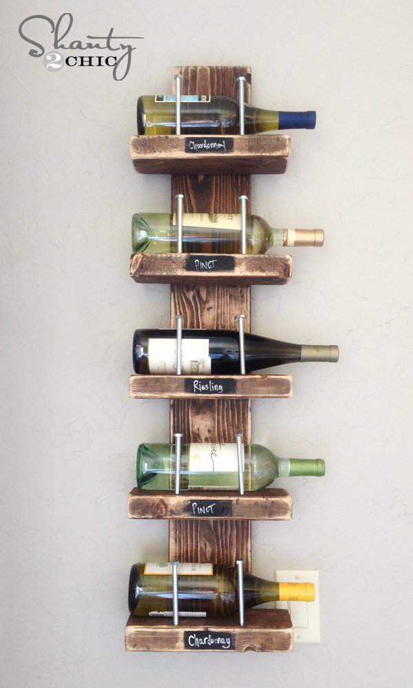 Wine Rack 12 Fabulously Fresh DIY Ideas for Your Spring Home Decor